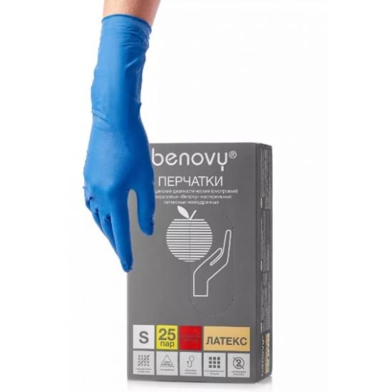 Перчатки латексные, смотровые, повышенной прочности Benovy