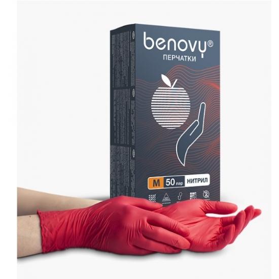 Перчатки нитриловые, смотровые Benovy